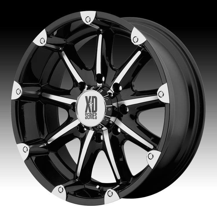 KMC XD XD779 Badlands Machined Black 20x9 6x5.5 -12mm (XD77929068312N)