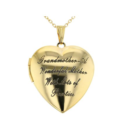 Grandmother Locket Necklace Pendant Heart Love Photo Remembrance 19