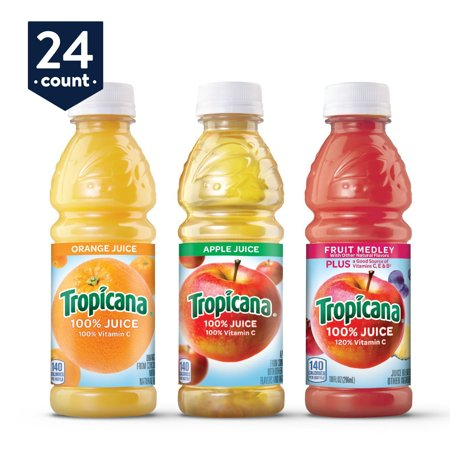 (24 Bottles) Tropicana 3 Flavor Classic Variety Pack, 10 fl