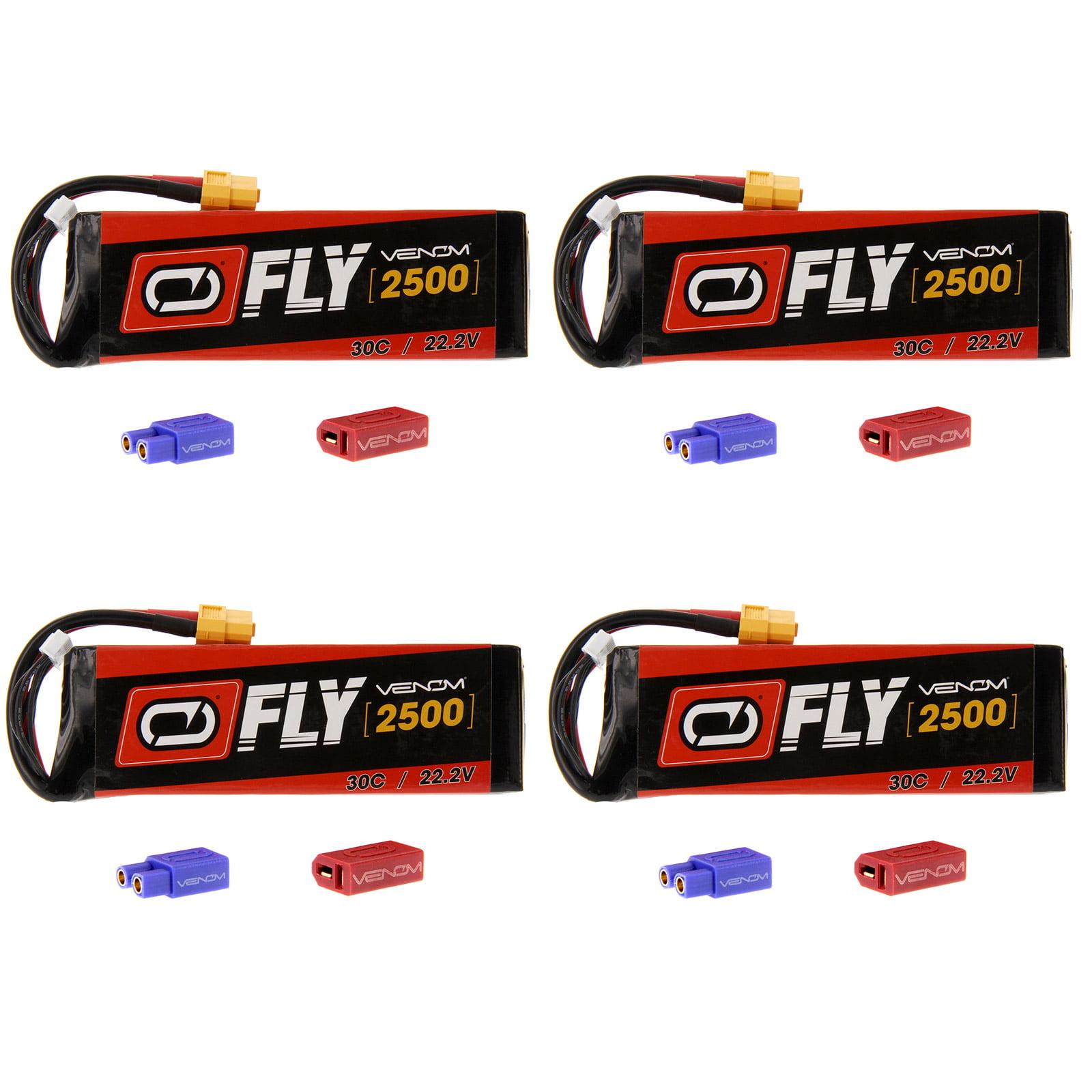 VENOM Fly 30C 6S 2500mAh 22.2V LiPo Battery with  UNI 2.0...