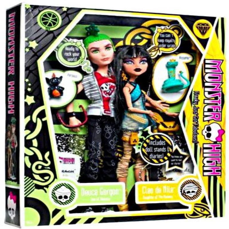 Mattel Monster High Deuce Gorgon & Cleo De Nile Doll 2-Pack