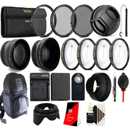58mm Top Accessory Lens Kit + Replacement LP-E10 Battery for Canon EOS 1100D 1200D Rebel T5 (Replacement Lens Kit)