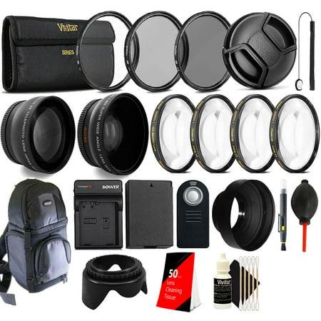 58mm Top Accessory Lens Kit + Replacement LP-E10 Battery for Canon EOS 1100D 1200D Rebel T5 T3