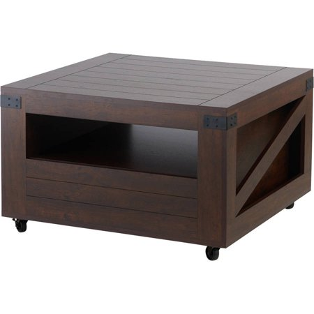 Furniture Of America L Transitional Style Coffee Table Vintage Walnut