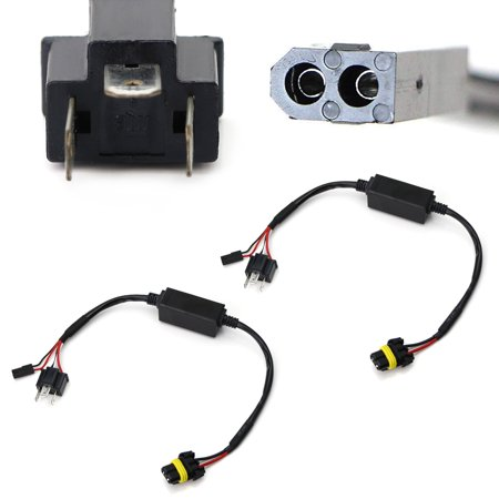 iJDMTOY (2) Easy Plug-In Relay Harness For H4 9003 Hi/Lo Bi-Xenon HID Conversion Kit Xenon Bulbs Wiring Controllers