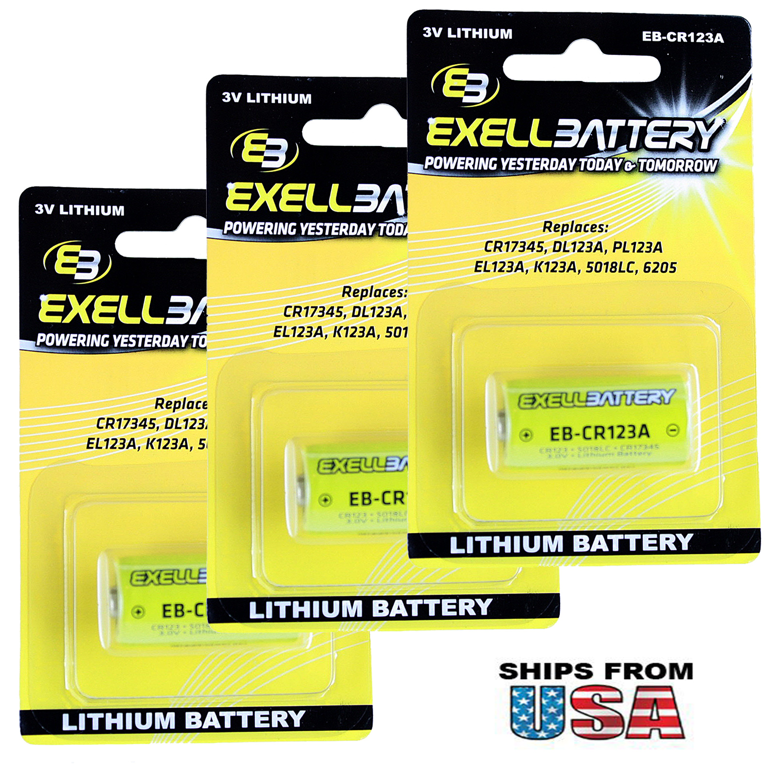 3X 3.0V CR123A Blister Pack Lithium Battery Fit Armasight Drone Pulsar Digisight