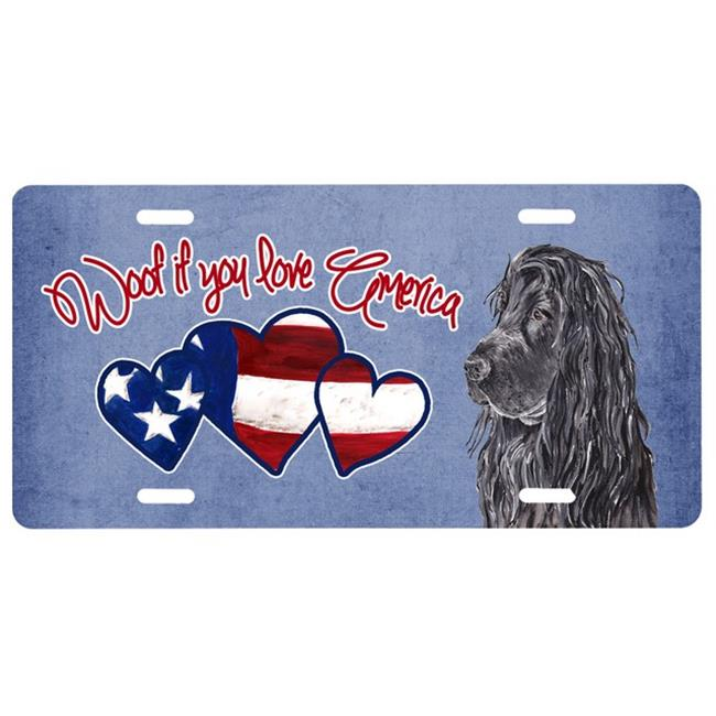 Carolines Treasures SC9921LP Woof If You Love America Poodle License Plate - image 1 of 1