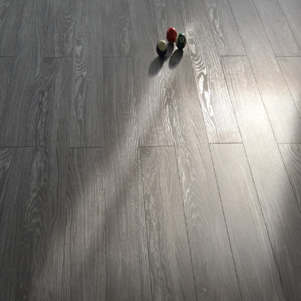 12mm AC3 CARBII V-Groove Click EIR 12-Oak Collection Laminate Flooring - Grey Oak