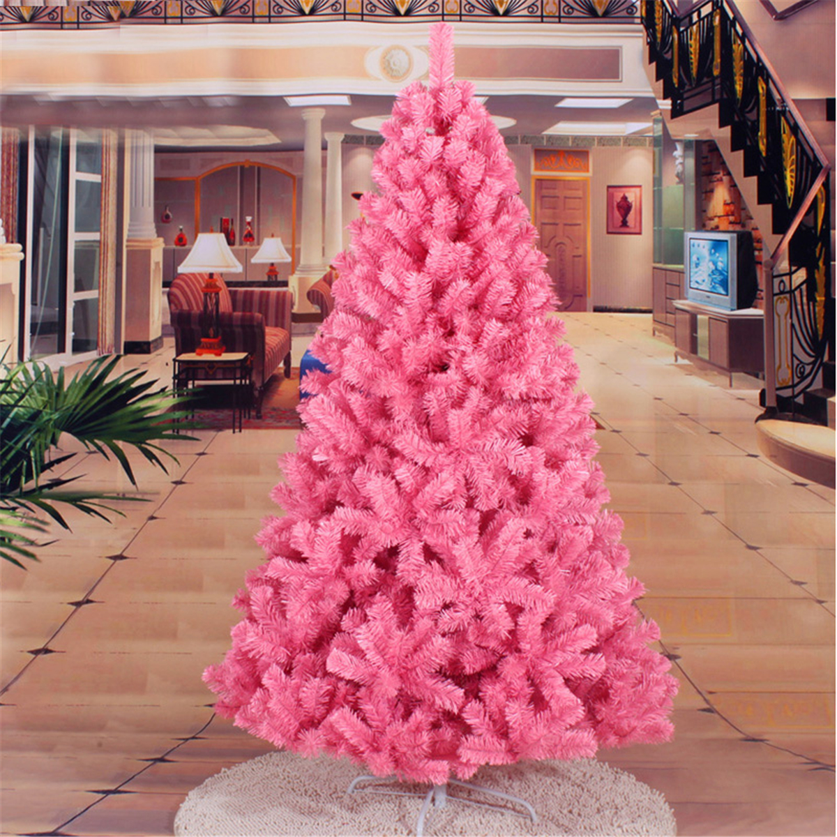 Pink Artificial Christmas Trees: Pink Artificial Christmas Tree Home Decor DIY Christmas