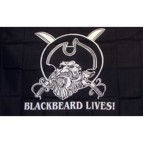 NeoPlex Black Beard Lives Pirate Traditional Flag