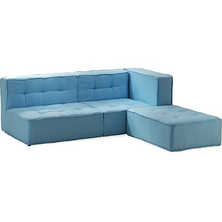 floor cushy modular sectional seating light blue