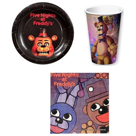 Paper Napkins Plates - Five Nights At Freddy's Paper Cups, Plates, Napkins Set