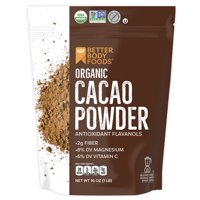 BetterBody Foods Organic Cacao Powder, 1.0 Lb (16 oz)