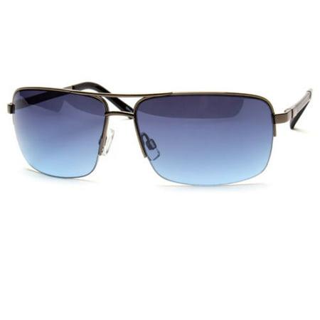 Men's Classic Sunglasses Metal Driving Glasses Aviator Outdoor Sports UV400 New (Gunmetal Tortoise Sunglasses)