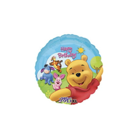 Pooh and Friends 18 inch Happy Birthday Mylar Balloon.](Winnie The Pooh Mylar Balloons)
