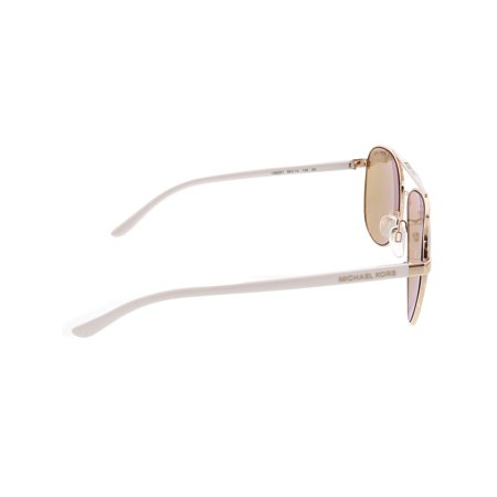 96407469605e Michael Kors Women's Hvar MK5007-1080R1-59 Rose-Gold Aviator Sunglasses -  image ...
