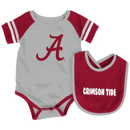 Alabama Crimson Tide Colosseum Newborn & Infant Roll-Out Bodysuit & Bib Set - (Alabama Cheerleading Outfit)
