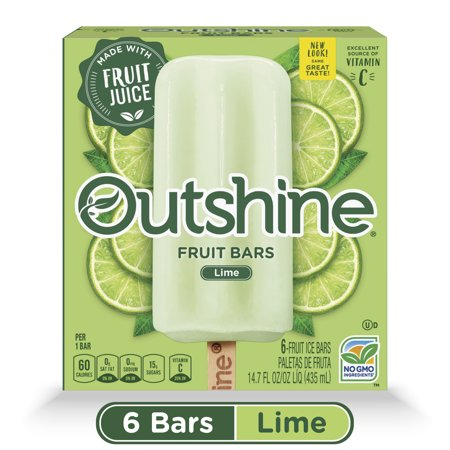 3654680d008f OUTSHINE Lime Frozen Fruit Bars, 6 Ct. Box | Gluten Free | Non GMO