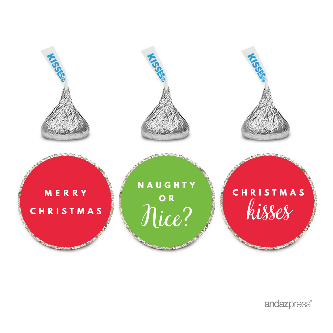 Christmas Classic Hershey´s Kisses Stickers, 216-Pack