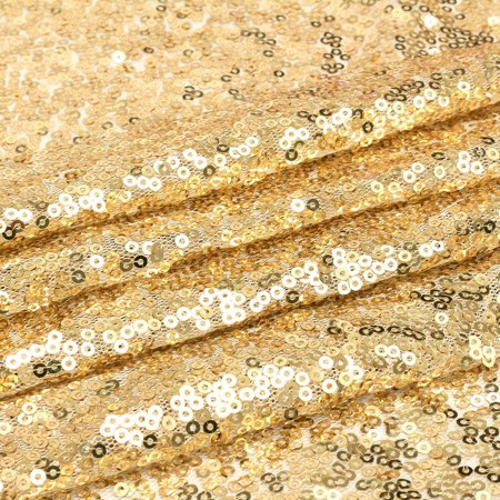 4x6ft Champagne gold Sequin Fabric Curtain Photography Background Backdrop Wedding Party Photobooth - Backdrop Curtains