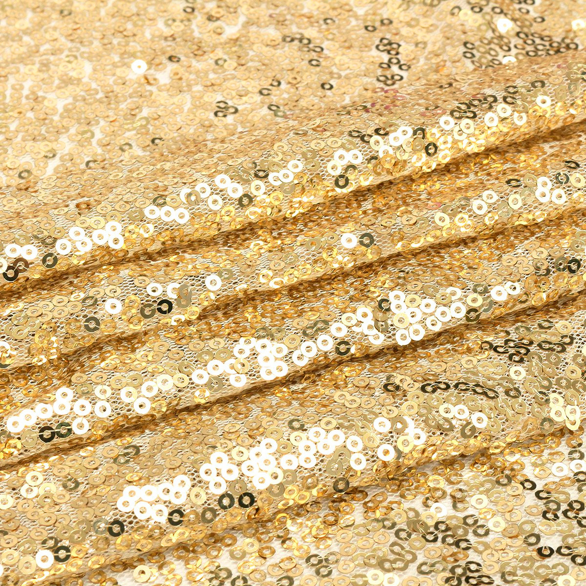 4x6ft Champagne gold Sequin Fabric Curtain Photography Background Backdrop Wedding Party Photobooth Decor