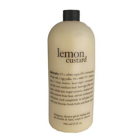 Philosophy Lemon Custard Shampoo Shower Gel Bubble Bath 946ml 32oz