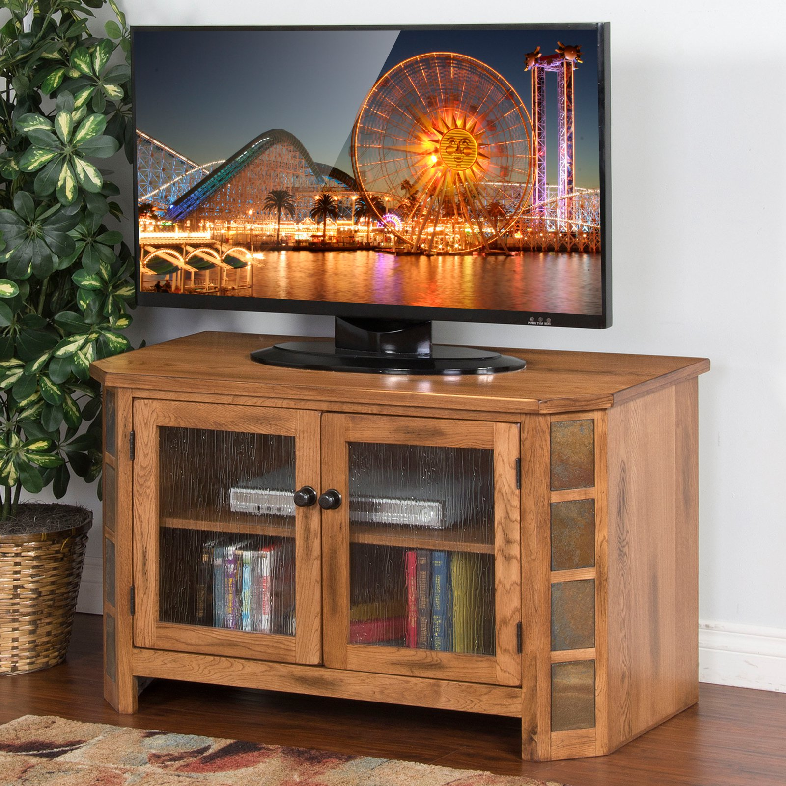 Sunny Designs Sedona Rustic Oak TV Console