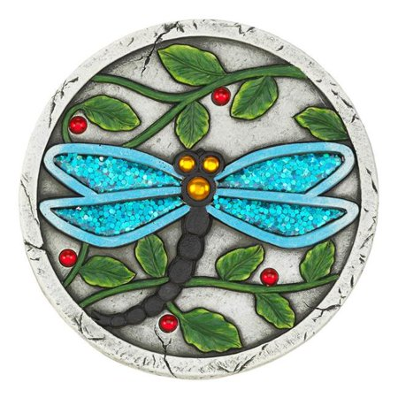 Blue Dragonfly Garden Stepping Stone, Cement ()