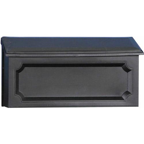 Solar Group Inc WMH00B04 Black Windsor Horizontal Wall Mount Mailbox by Wood Textures Inc