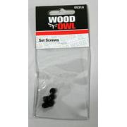"""WoodOwl 05310 Set Screws for 1"""" - 2-9/16"""" (5 per pack)"""