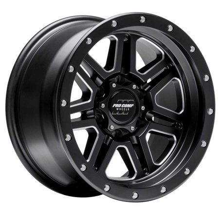Pro Comp Alloy 5162-213647 Apex Series; Size 20x10; Bolt Pattern 6x135mm; Back Space 4.75 in.; -18mm Offset; Max Load 2500 lbs.; Satin Black; Milled; Cap PN[503434242];