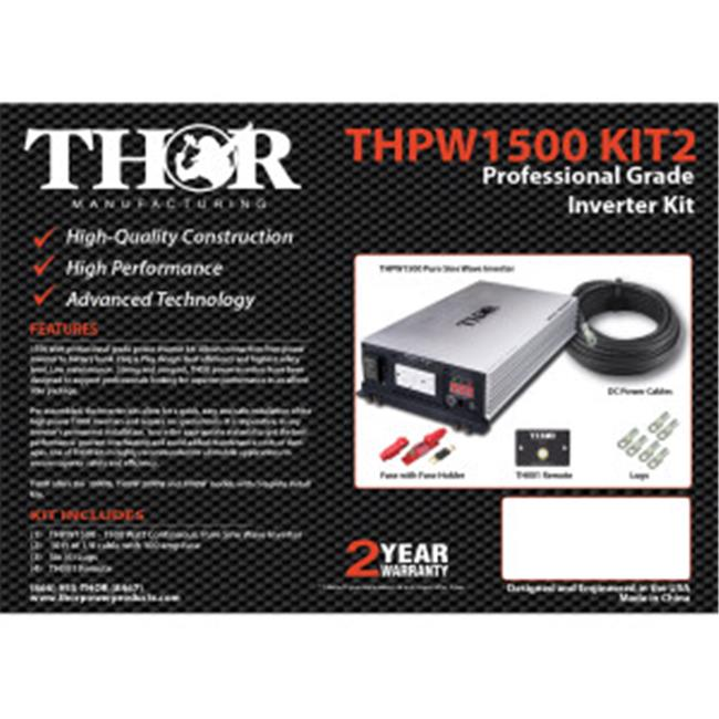 Thor THPW3000 12V 3000 watt Pure Sine Wave Inverter with USB 2.1
