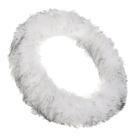 "3PCS Winter Furry Car Steering Wheel + Gear Knob Shifter Parking heater Brake Cover DIY Set 14.2"" Christmas Gift Decor"