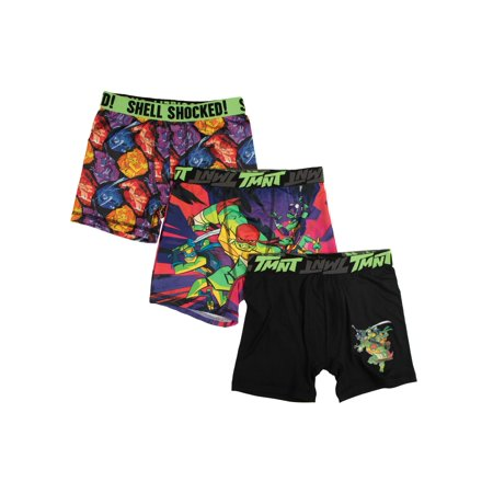 Teenage Mutant Ninja Turtles Boys' Underoos Boxer Brief, 3 Pack, Size 4