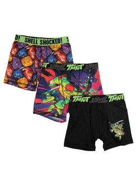 Teenage Mutant Ninja Turtles Boys' Underoos Boxer Brief, 3 Pack