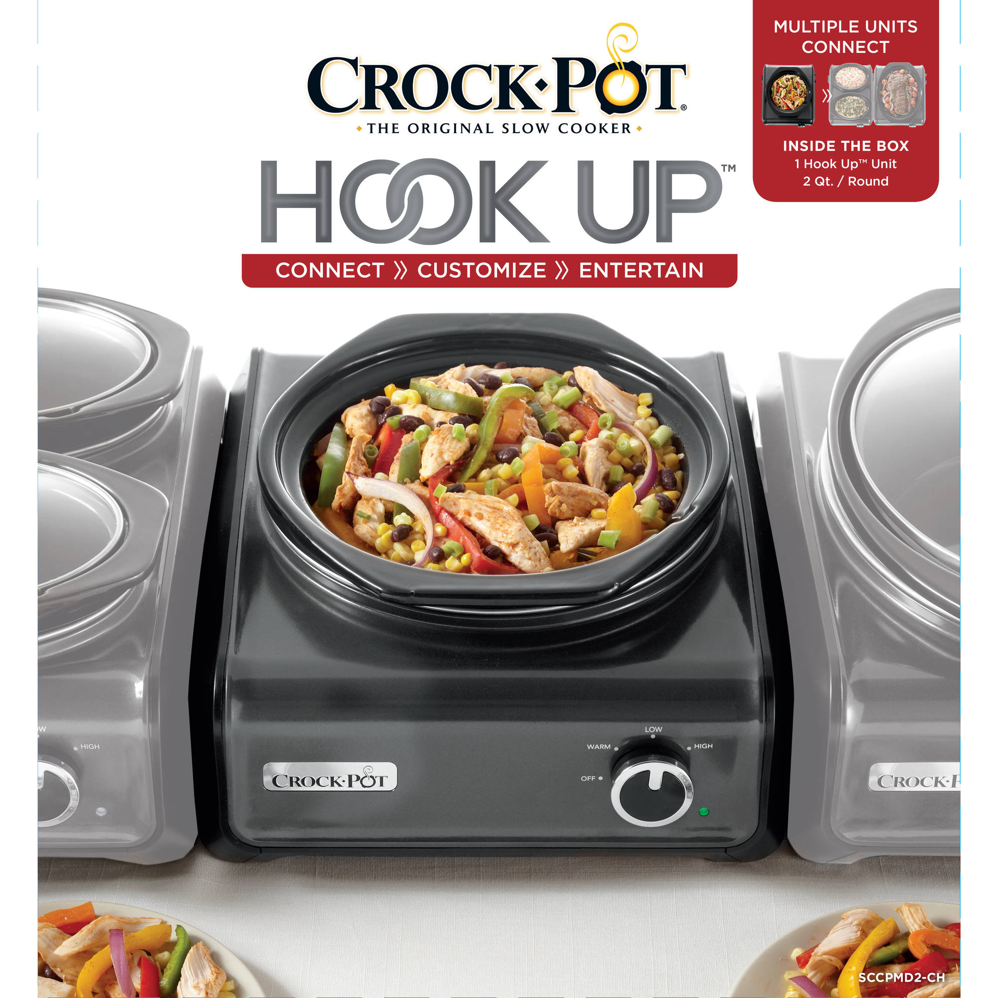 Crock Pot Hook Up 2 Quart Connectable Entertaining System   Walmart.com