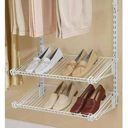 Rubbermaid Home Prod Dorfile Fg3h9403wht Configurations Closet Shoe Shelves Titanium