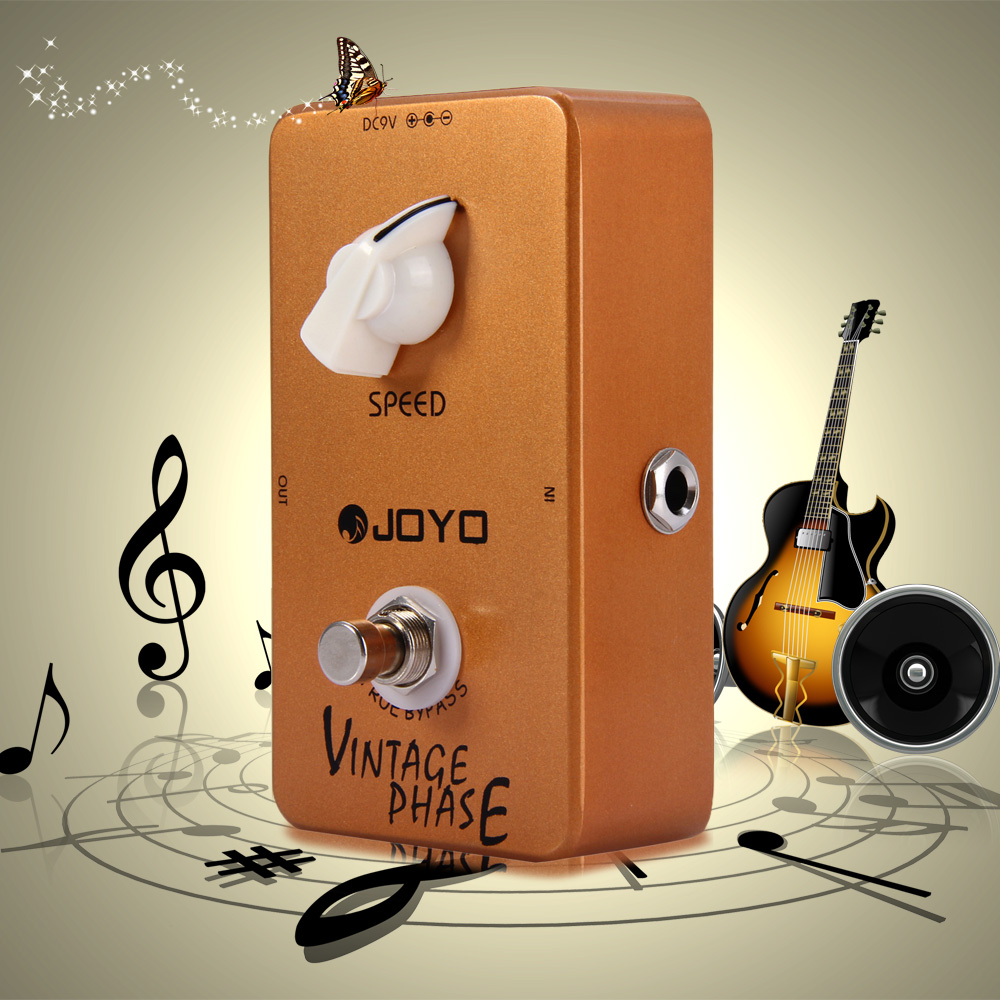 JOYO JF - 06 True Bypass Design Vintage Phase Phaser Guitar Effect Pedal with Adjustable Speed