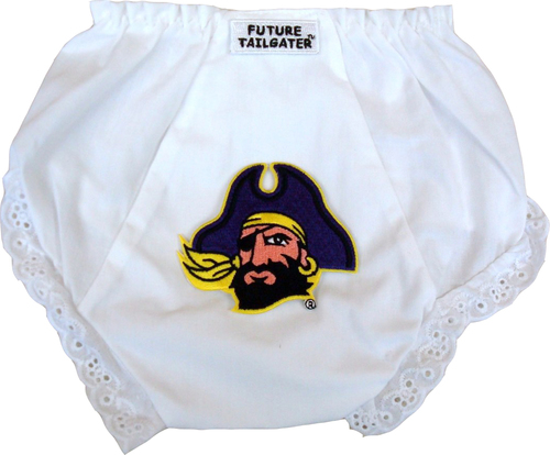 East Carolina Pirate Eyelet Baby Diaper Cover by Future Tailgater