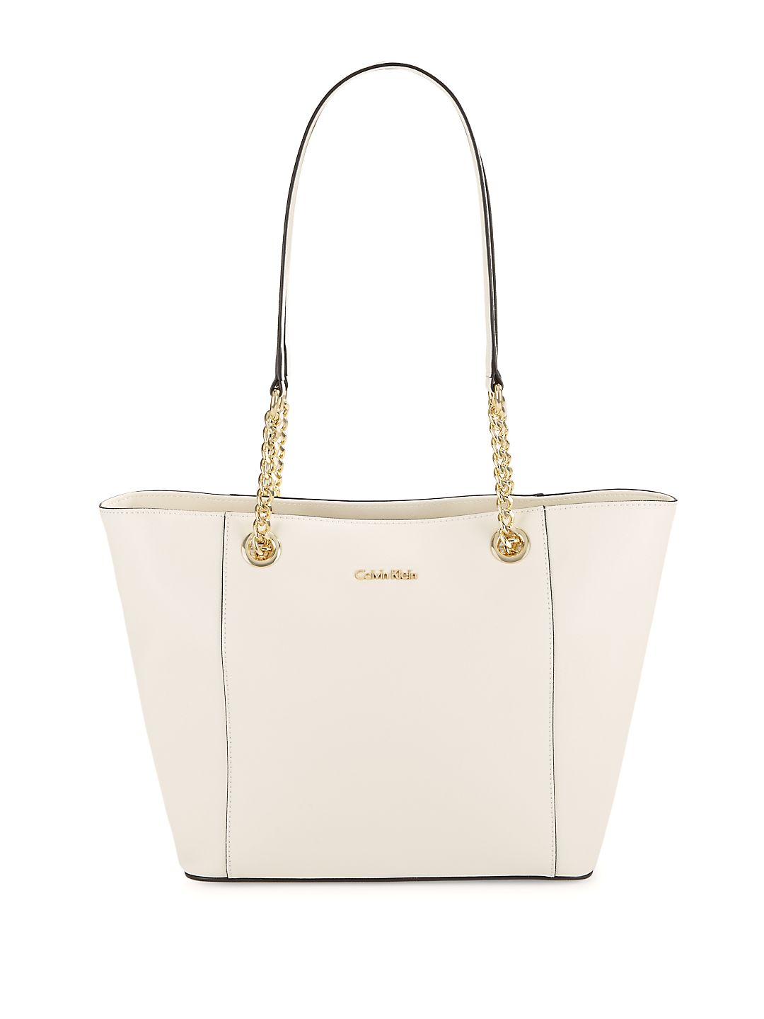 Leather Chain Strap Tote