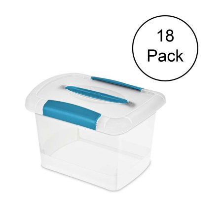 Sterilite Small Nesting ShowOffs Clear File Box w/ Latches (18 Pack) | 18728606 ()