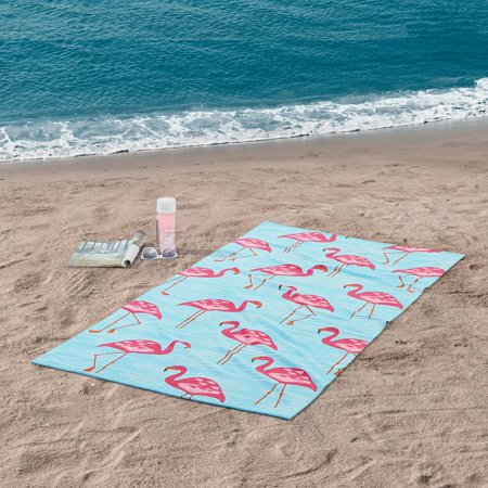 "Mainstays Flamingo Beach Towel - 34"" x 64"" - 1 pack"
