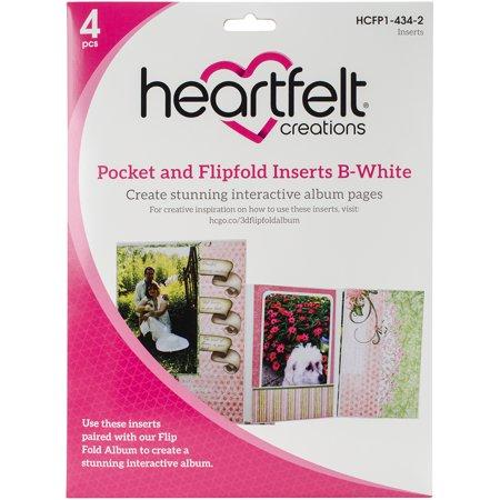 Heartfelt Creations Pocket & Flipfold Inserts-B-White - image 1 de 1