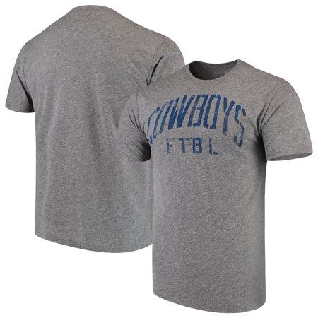 Dallas Cowboys Football Arch Tri-Blend T-Shirt - Heathered Gray Dallas Cowboys Football Shorts