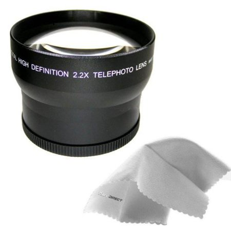 Sony Cybershot DSC-HX1 IS 2.2x High Definition Telephoto Lens Made By Optics + Lens Adapter Ring (72mm) + Nwv Direct