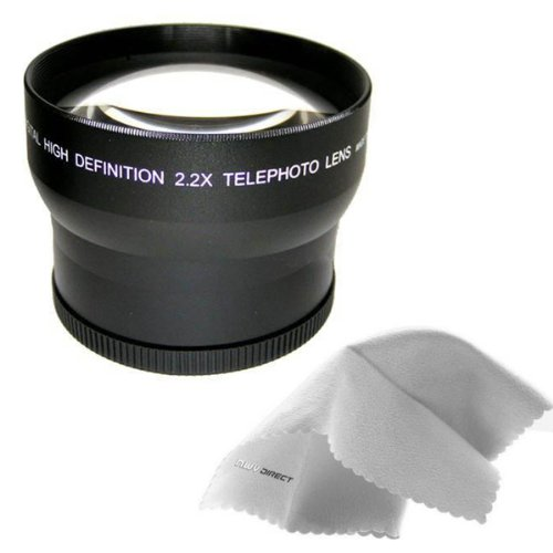 Sony Cybershot DSC-HX1 IS 2.2x High Definition Telephoto Lens Made By Optics + Lens Adapter Ring (72mm) + Nwv Direct Mic