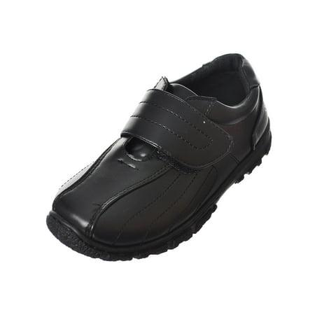 Danuccelli Boys' School Shoes (Sizes 10 - 8) (Black School Shoes For Boys)