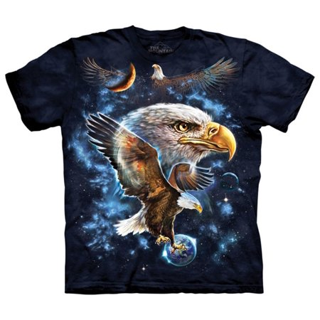 The Mountain Blue Cotton Cosmic Eagle Design Novelty Parody Adult T-Shirt