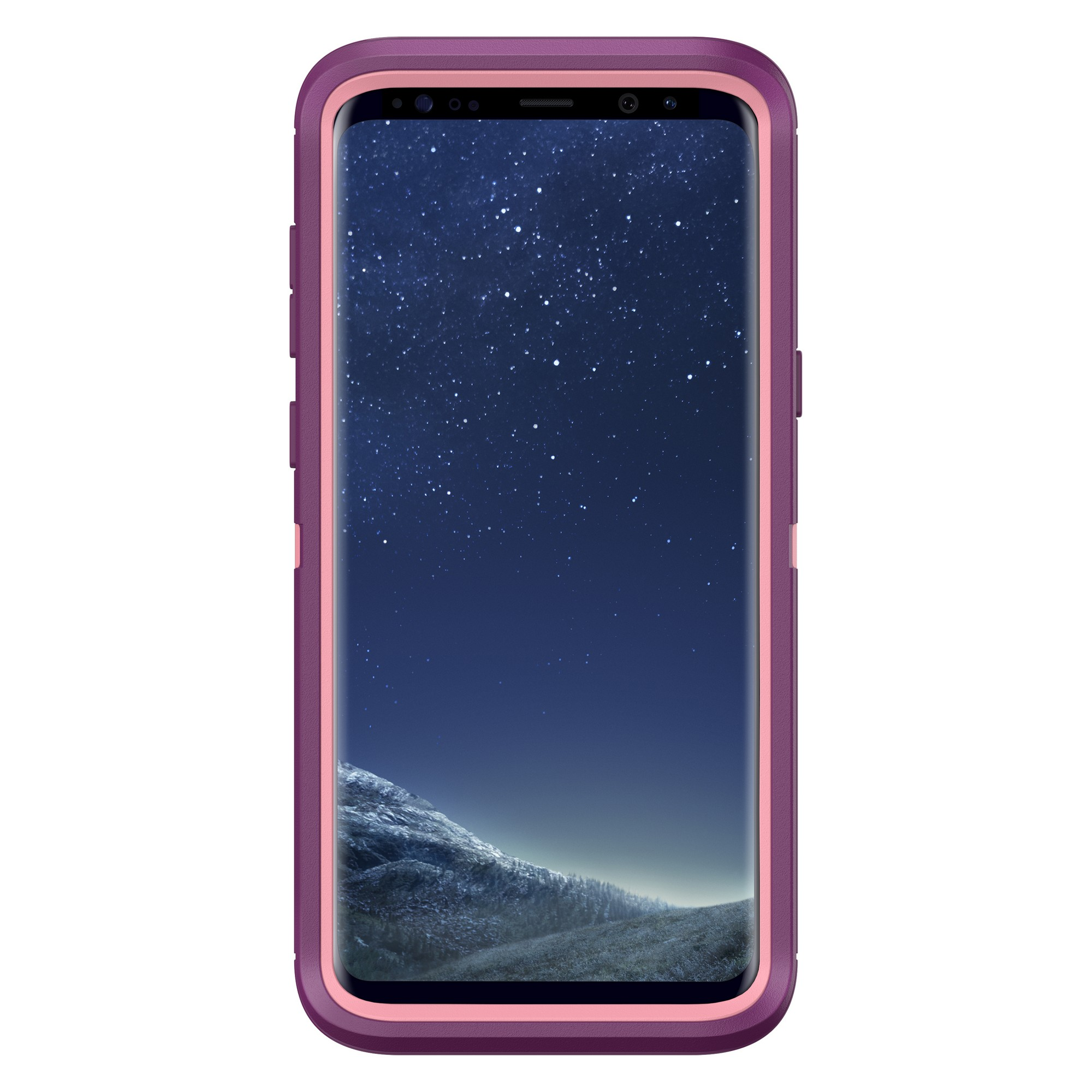 classic fit a6fa5 1055c Otterbox Samsung Galaxy S8 Plus Dark Pink/Purple (Vinyasa) Defender series  case - 77-54584