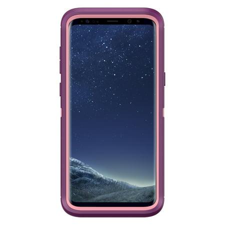 classic fit ba00f b2df9 Otterbox Samsung Galaxy S8 Plus Dark Pink/Purple (Vinyasa) Defender series  case - 77-54584